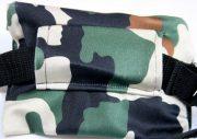 Insulinpumpetaske med velcro og vindue i camouflageprint