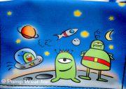 insulinpumpetaske til børn med alienmotiv fra pump wear