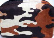 insulinpumpetaske til børn i brun camouflageprint fra pump wear