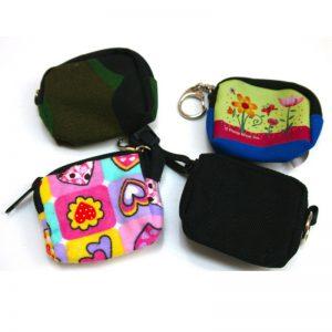 Mini nøgleringstaske 4 varianter