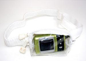 hvid sovetaske til insulinpumpe til børn fra Pump Wear