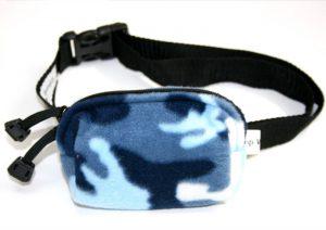 Sovetaske til insulinpumpe i blå camouflage